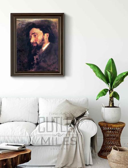 Portrait Of V. M. Garshin. By Ilia Efimovich Repin