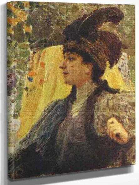 Portrait Of V. V. Verevkina. By Ilia Efimovich Repin