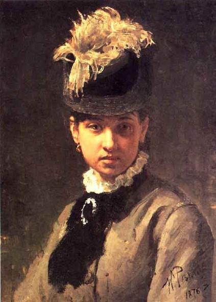 Portrait Of Vera Repina, The Artist's Wife. By Ilia Efimovich Repin