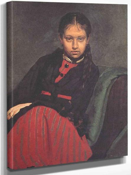 Portrait Of Vera Shevtsova By Ilia Efimovich Repin