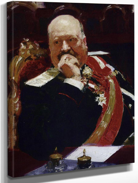 Portrait Of Vice Minister Of The Interior, Cavalry General And Member Of State Council, Count Aleksey Pavlovich Ignatiev . By Ilia Efimovich Repin