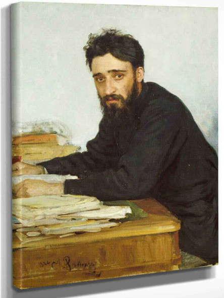 Portrait Of Writer Vsevolod Mikhailovich Garshin. By Ilia Efimovich Repin