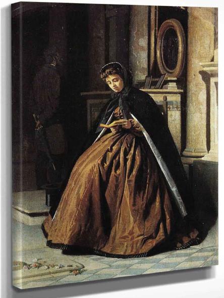 Prayer By Giuseppe Abbati By Giuseppe Abbati