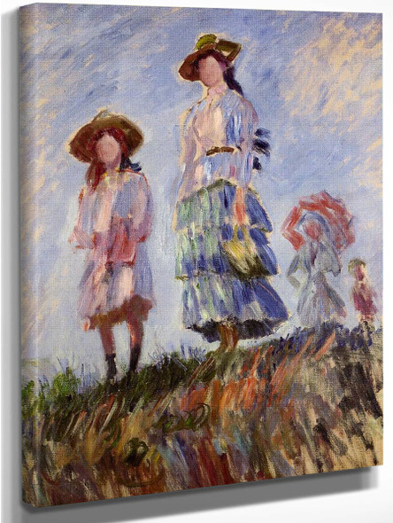 Promenade  By Claude Oscar Monet