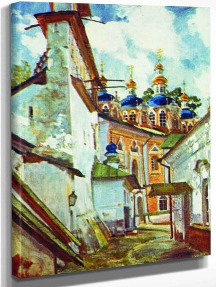 Pskov Monastery By Sergei Arsenevich Vinogradov Russian 1869 1938