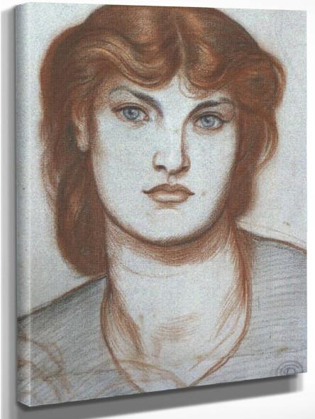 Regina Cordium Study By Dante Gabriel Rossetti