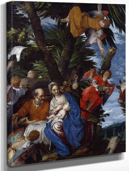 Rest On The Flight Into Egypt By Paolo Veronese