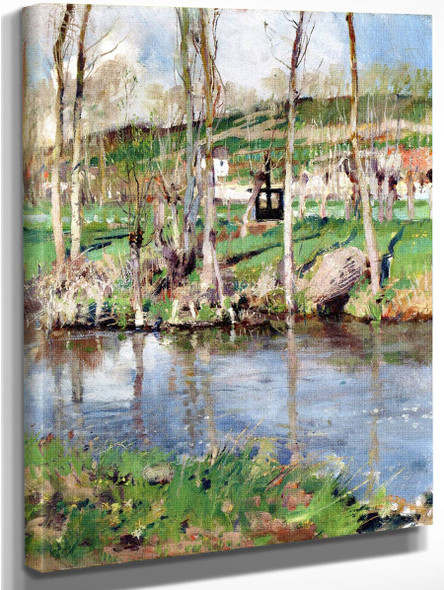 River At Giverny By William Blair Bruce