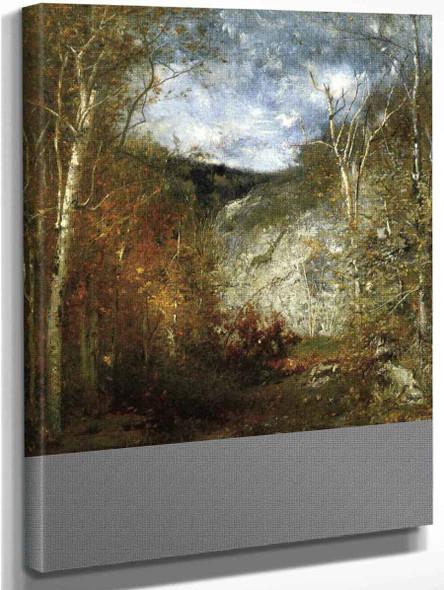 Rocky Ledge, Adirondacks By Alexander Helwig Wyant