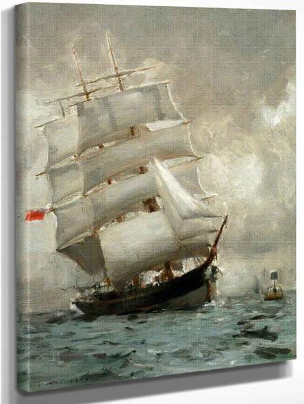 Rounding The Manacle Buoy By Henry Scott Tuke