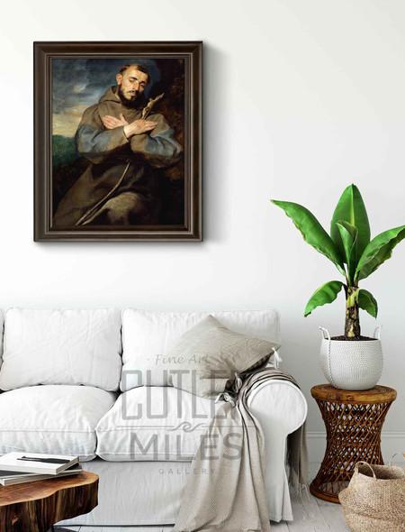 Saint Francis By Peter Paul Rubens