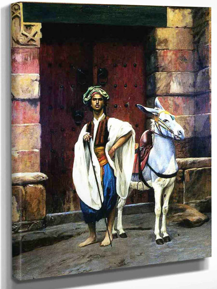 Sais And His Donkey By Jean Leon Gerome