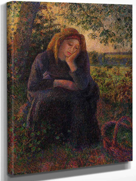 Seated Peasant By Camille Pissarro