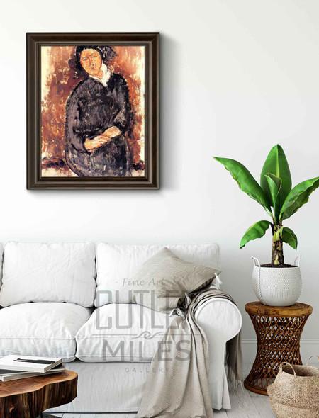 Seated Woman By Amedeo Modigliani