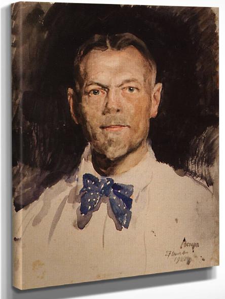 Self Portrait By Sergei Arsenevich Vinogradov Russian 1869 1938