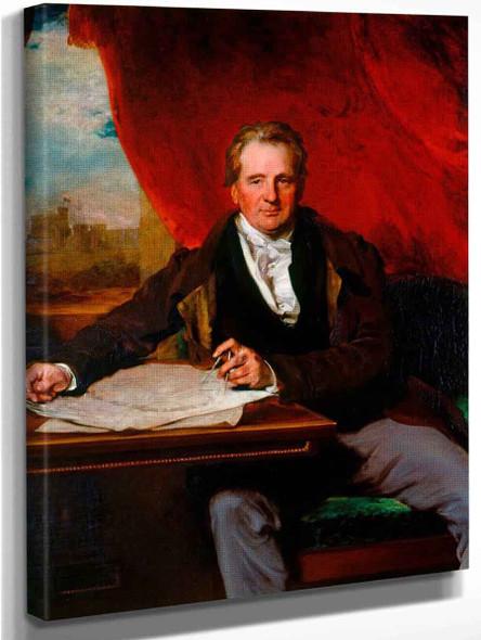 Sir Jeffrey Wyatville  By Sir Thomas Lawrence