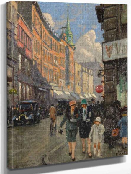 Skindergade By Paul Gustave Fischer By Paul Gustave Fischer