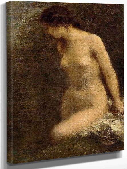 Small Brunette Bather By Henri Fantin Latour By Henri Fantin Latour