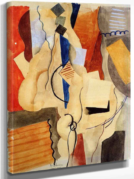 Smoking In The Shelter By Roger De La Fresnaye