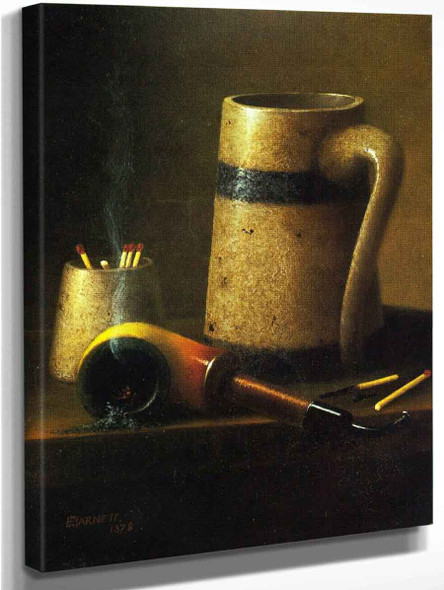 Still Life, Pipe And Mug By William Michael Harnett  By William Michael Harnett