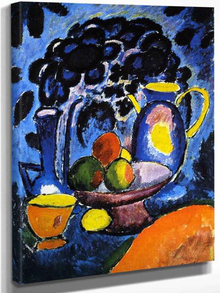 Still Life With Blue Jug By Alexei Jawlensky By Alexei Jawlensky