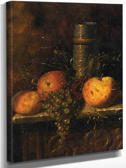 Still Life With Fruit And Vase 1 By William Michael Harnett  By William Michael Harnett