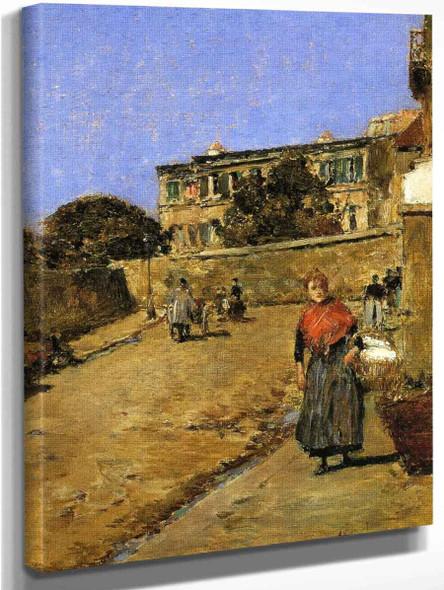 Street Scene, Montmartre By Frederick Childe Hassam