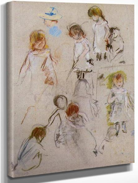 Studies Of A Little Girl By Berthe Morisot