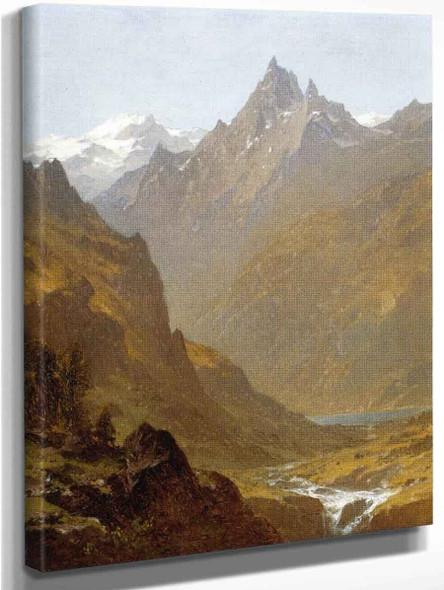Swiss Scene By Sanford Robinson Gifford
