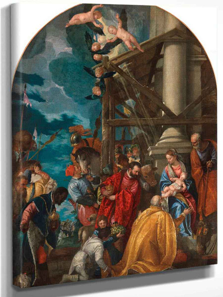 The Adoration Of The Magi1 By Paolo Veronese