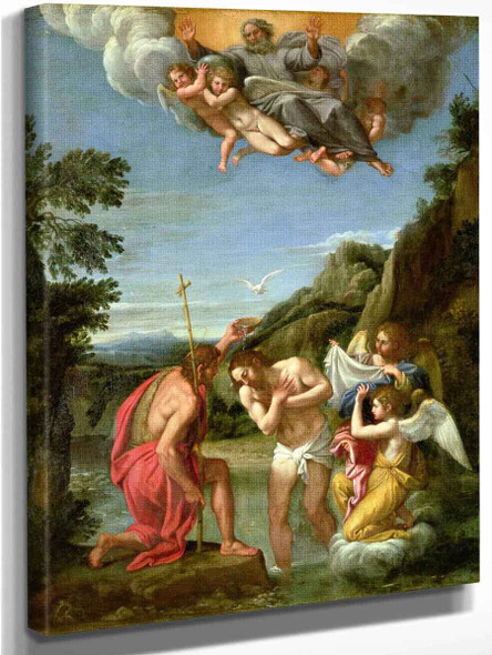 The Baptism Of Christ By Francesco Albani By Francesco Albani
