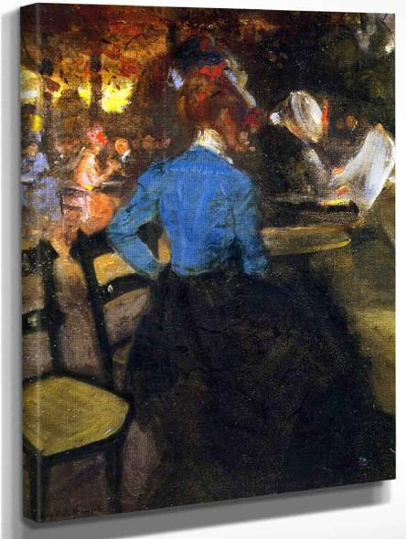 The Cafe By Alfred Henry Maurer By Alfred Henry Maurer
