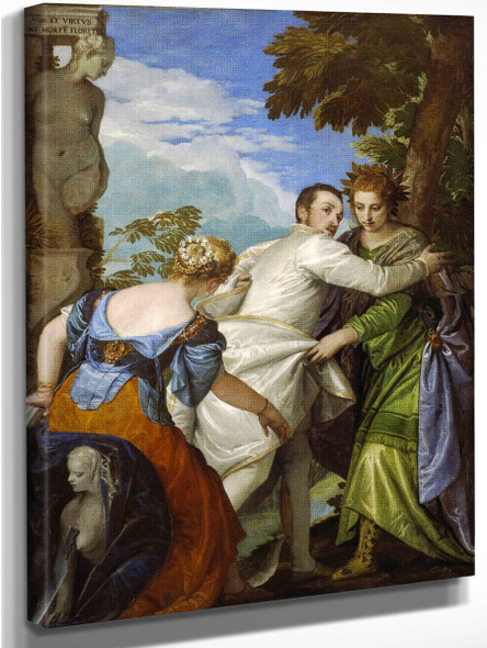 The Choice Between Virtue And Vice By Paolo Veronese