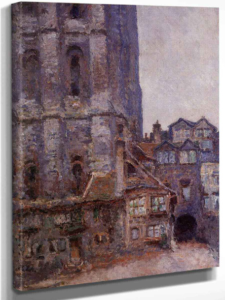 The Cour D'albane, Grey Weather By Claude Oscar Monet Art Reproduction