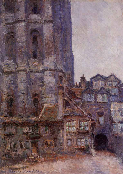 The Cour D'albane, Grey Weather By Claude Oscar Monet