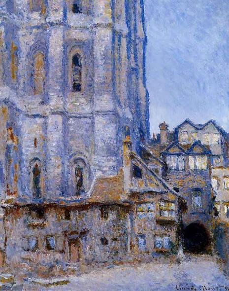 The Cour D'albane By Claude Oscar Monet