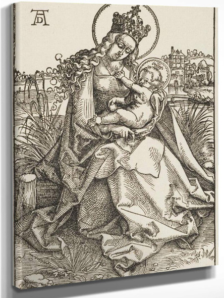 The Crowned Virgin With The Child By Hans Baldung Grien By Hans Baldung Grien