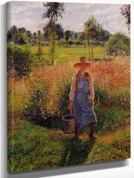 The Gardener, Afternoon Sun, Eragny By Camille Pissarro
