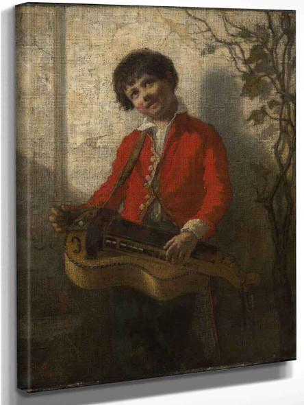 The Hurdy Gurdy Boy By William Morris Hunt