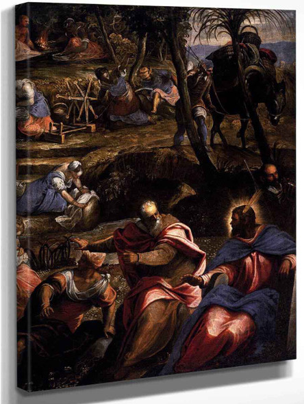 The Jews In The Desert  By Jacopo Tintoretto