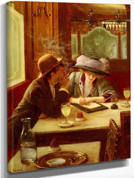 The Letter By Jean Georges Beraud By Jean Georges Beraud