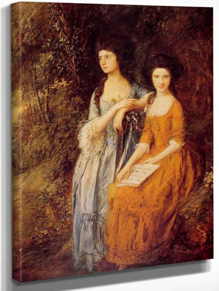 The Linley Sisters By Thomas Gainsborough