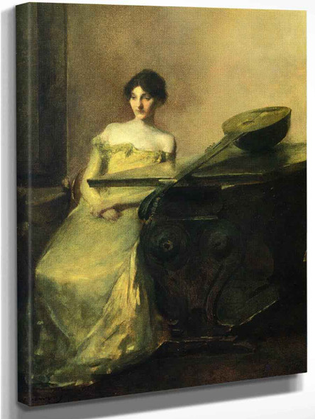 The Lute1 By Thomas Wilmer Dewing By Thomas Wilmer Dewing