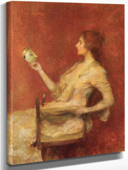 The Mask By Thomas Wilmer Dewing By Thomas Wilmer Dewing
