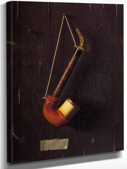 The Meerschaum By William Michael Harnett  By William Michael Harnett