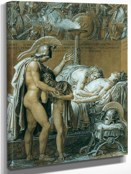 The Mourning Of Pallas By Anne Louis Girodet De Roussy Trioson