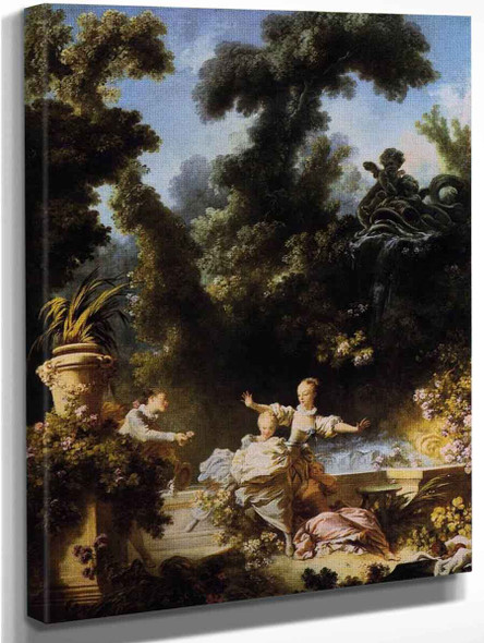 The Progress Of Love, The Pursuit By Jean Honore Fragonard