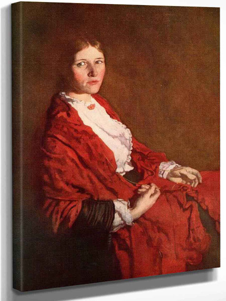 The Red Scarf By Sir William Orpen By Sir William Orpen