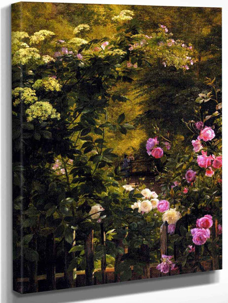 The Rose Garden By Carl Frederik Peder Aagaard By Carl Frederik Peder Aagaard
