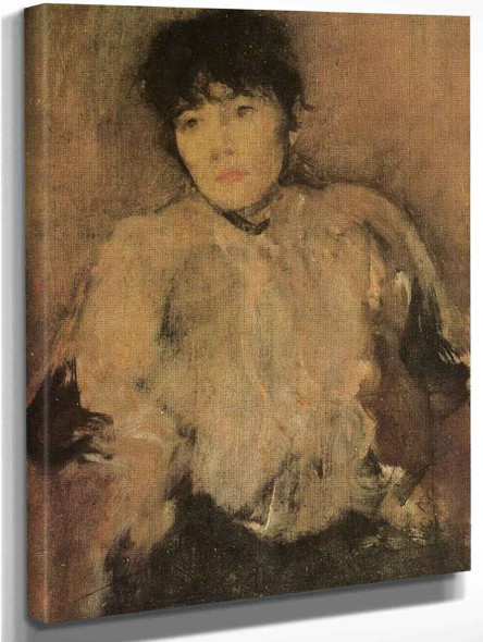 The Rose Scarf By James Abbott Mcneill Whistler American 1834 1903